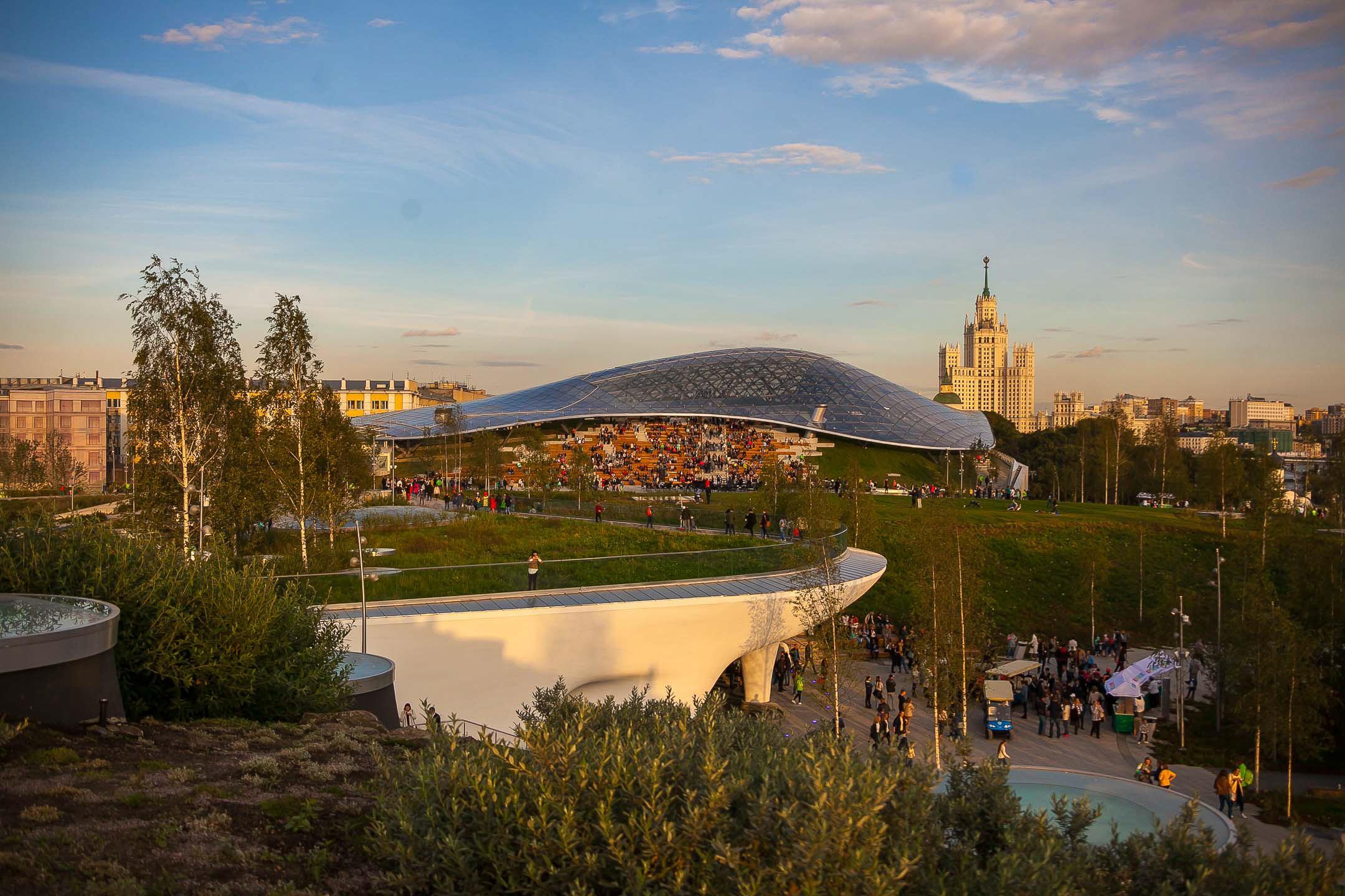 Парк «Зарядье»: панорамный вид