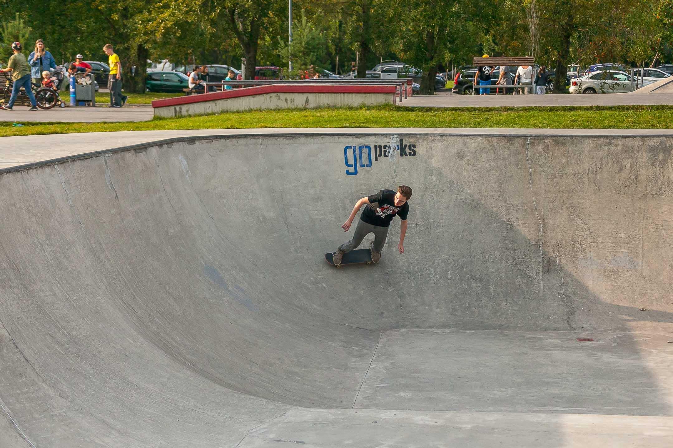 Скейт-парк в парке «Садовники»