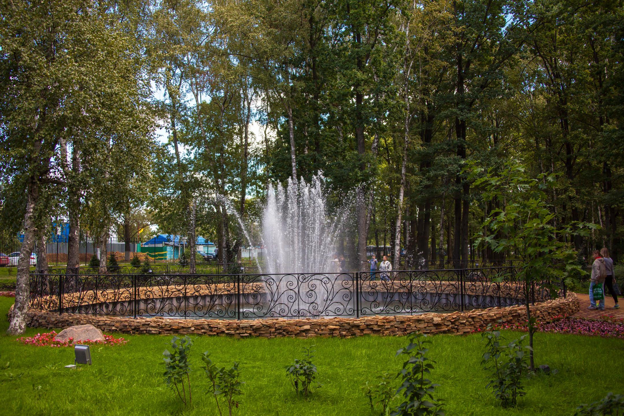 Фонтан в парке «Дубки»
