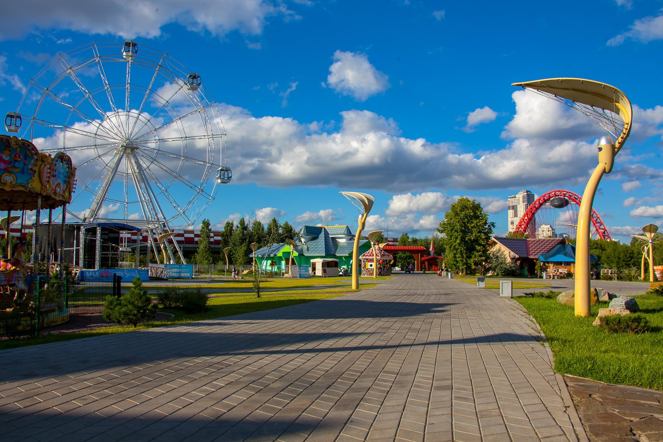 аттракционы в парке Skazka