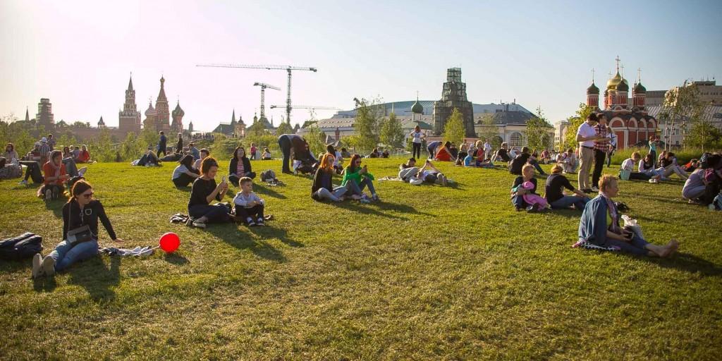 Парк «Зарядье», панорама
