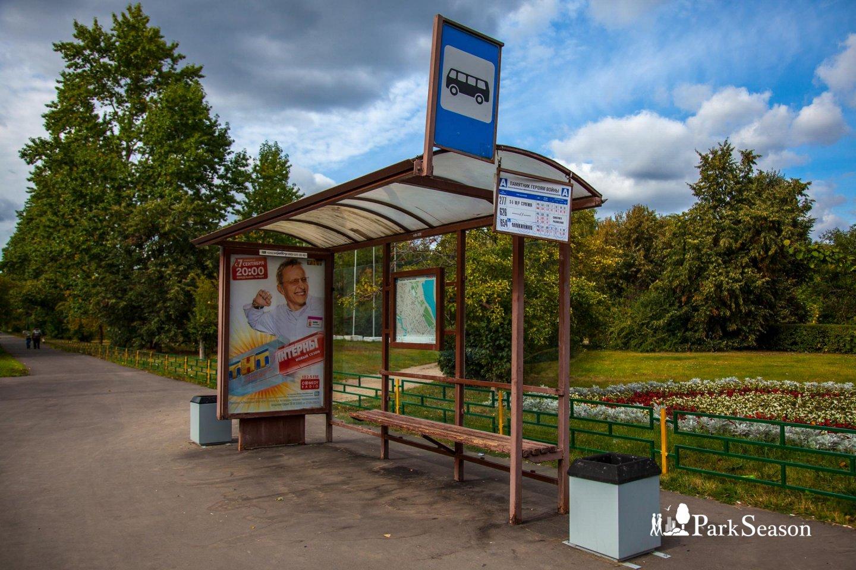 Остановка общественного транспорта , Строгинский парк, Москва — ParkSeason
