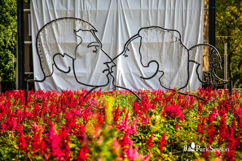 Арт-объект «Поцелуй», Гончаровский парк, Москва — ParkSeason