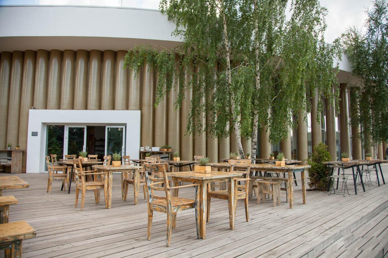 Временный павильон Музея «Гараж», Парк Горького, Москва — ParkSeason