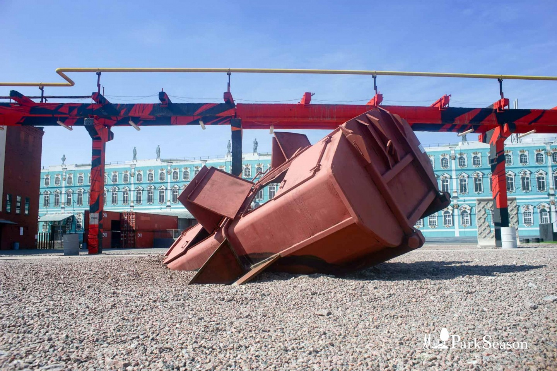 Арт-объект «Сбитый поезд» — ParkSeason
