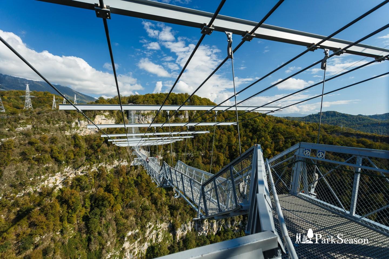 Подвесной мост в сочи фото