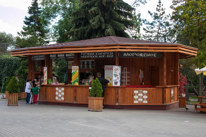 Киоски с уличной едой, Московский зоопарк, Москва — ParkSeason