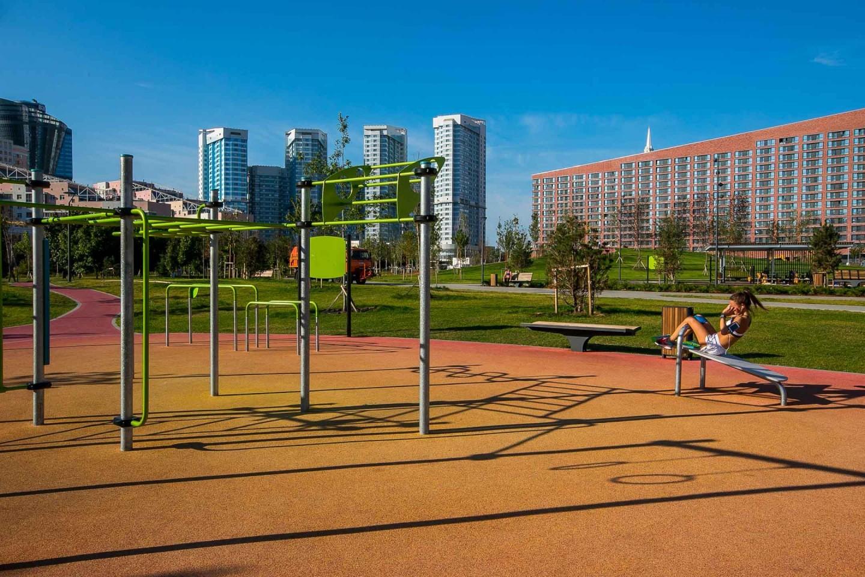 Площадка WorkOut, Ходынское поле, Москва — ParkSeason