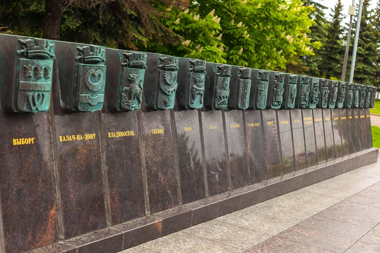 Монумент «Городам воинской славы», Парк Победы на Поклонной горе, Москва — ParkSeason