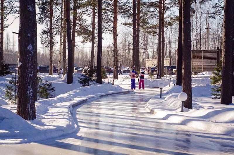 Лесной каток в «Охта-парке»  — ParkSeason