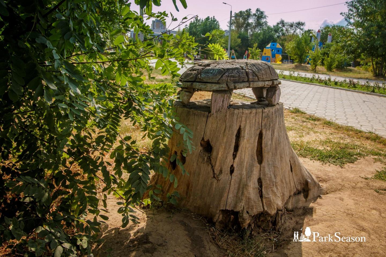 Скульптура Деревянная черепаха — ParkSeason