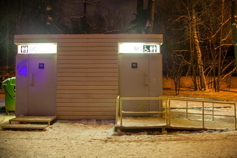 Туалет, Озелененная территория МГУ, Москва — ParkSeason