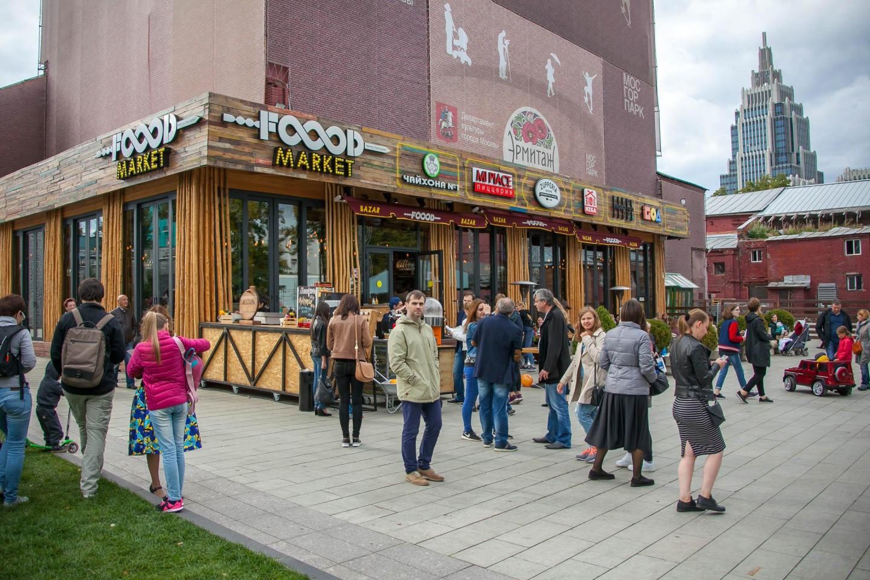 Мультибрендовый ресторан & фудмаркет Food bazar, Сад «Эрмитаж», Москва — ParkSeason
