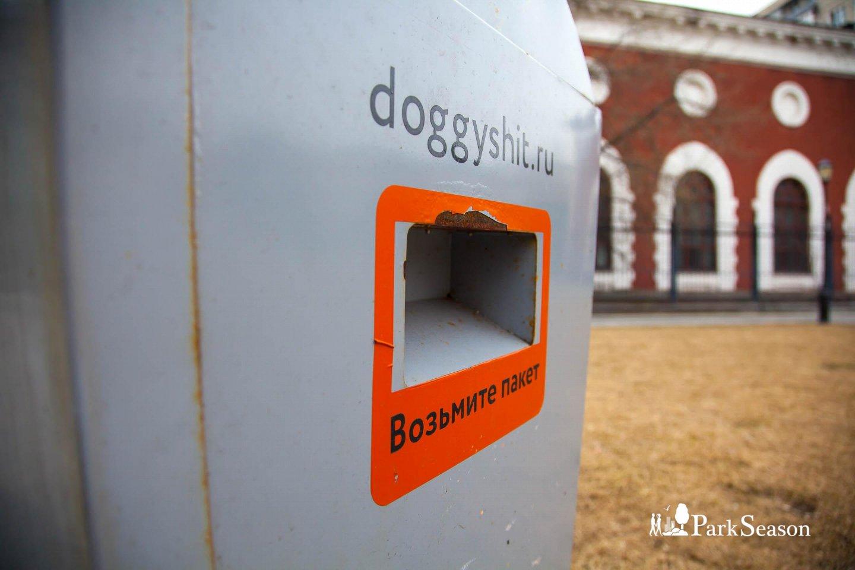 Бокс для собачьих отходов «Догги щит», Сад им. Баумана, Москва — ParkSeason