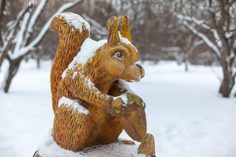 Скульптура Белки, Парк «Северное Тушино», Москва — ParkSeason