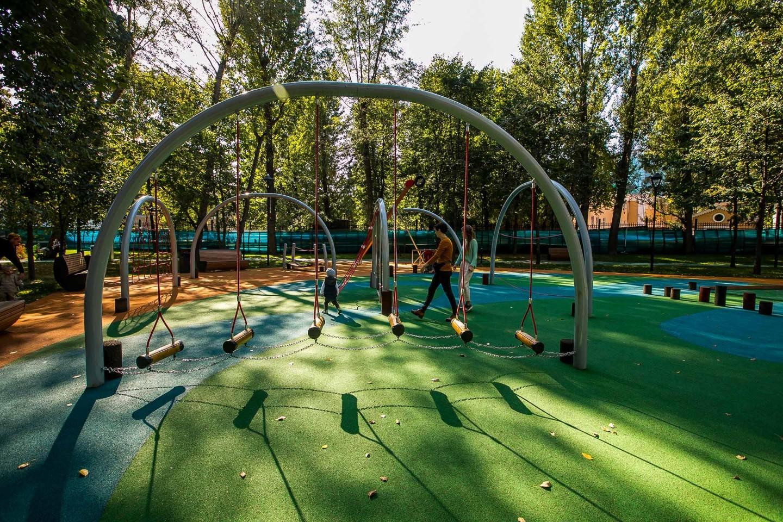 Детская площадка, Делегатский парк, Москва — ParkSeason