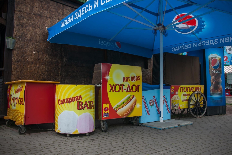 Палатка с кукурузой, хот-догами, попкорном и мороженым — ParkSeason
