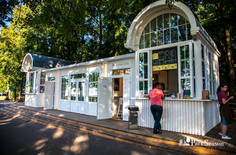 Киоск Coffeе and the City, Озелененная территория МГУ, Москва — ParkSeason