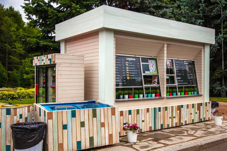 Киоски с уличной едой, Парк Победы на Поклонной горе, Москва — ParkSeason