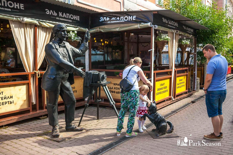 Скульптура «Фотограф с собакой» — ParkSeason