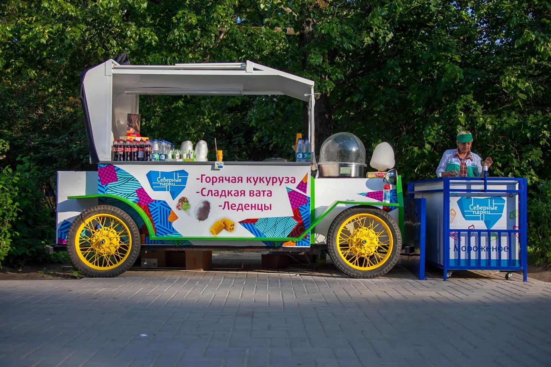Паровозик с уличной едой, Парк «Северное Тушино», Москва — ParkSeason