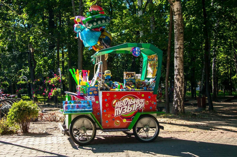 Ларек «Мыльные пузыри», Парк имени Льва Толстого (Химки), Москва — ParkSeason