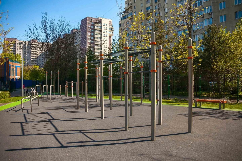 Площадка WorkOut, Парк «Таганский», Москва — ParkSeason