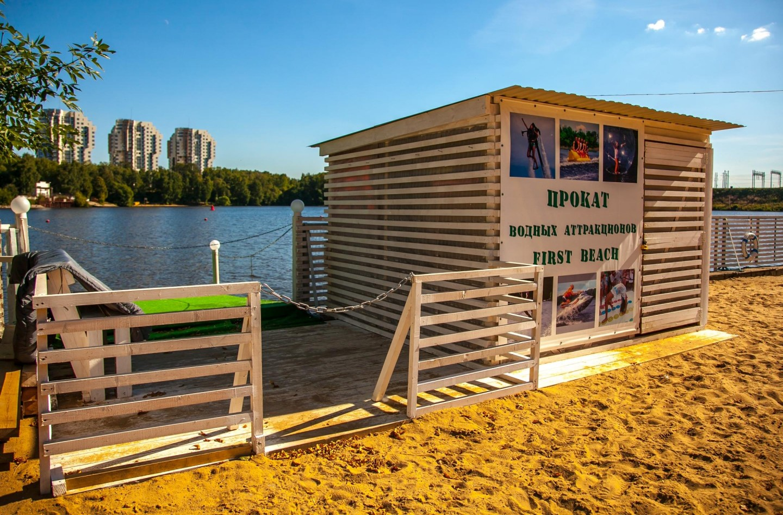 Прокат водных аттракционов First Beach, Парк имени Льва Толстого (Химки), Москва — ParkSeason