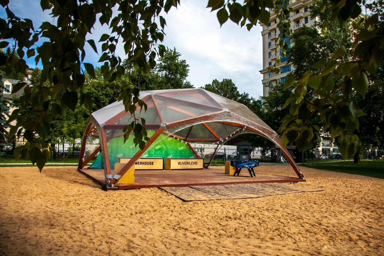 Спортивная площадка на песке, «Музеон», Москва — ParkSeason