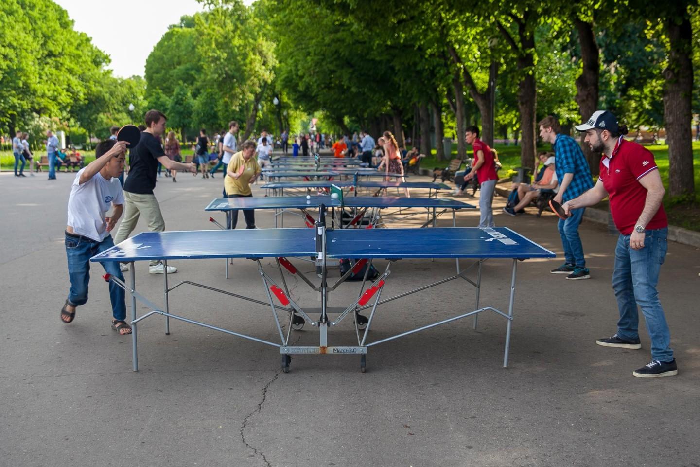 Настольный теннис, Парк Горького, Москва — ParkSeason