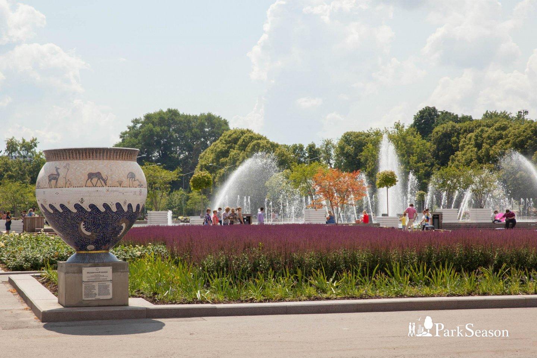 Центральный фонтан, Парк Горького, Москва — ParkSeason