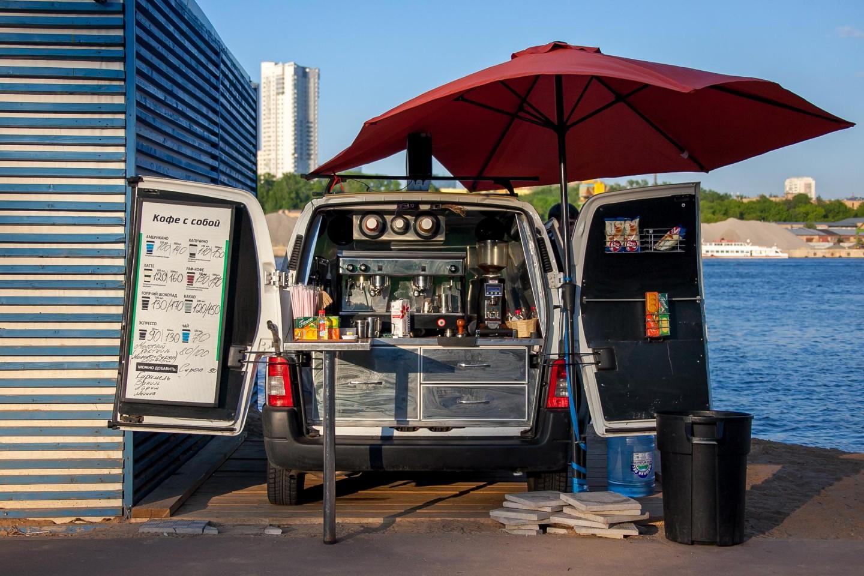 Мобильная кофейня, Парк «Северное Тушино», Москва — ParkSeason
