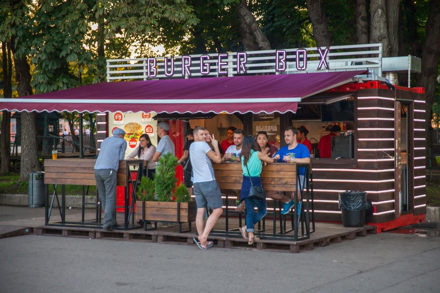 Киоск Burger box (закрыт) — ParkSeason