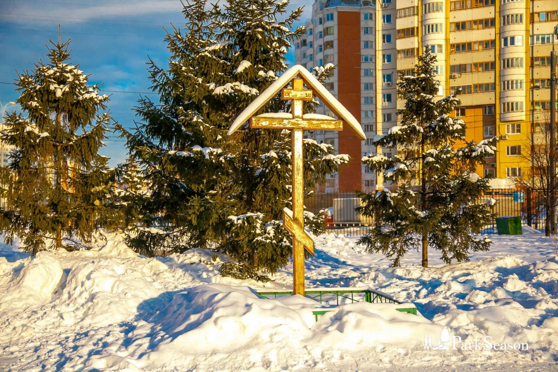 Поклонный крест на месте строительства храма святых Жен-Мироносиц — ParkSeason