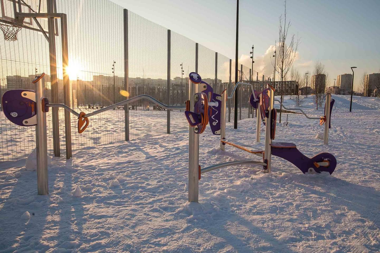 Уличные тренажеры, Ходынское поле, Москва — ParkSeason
