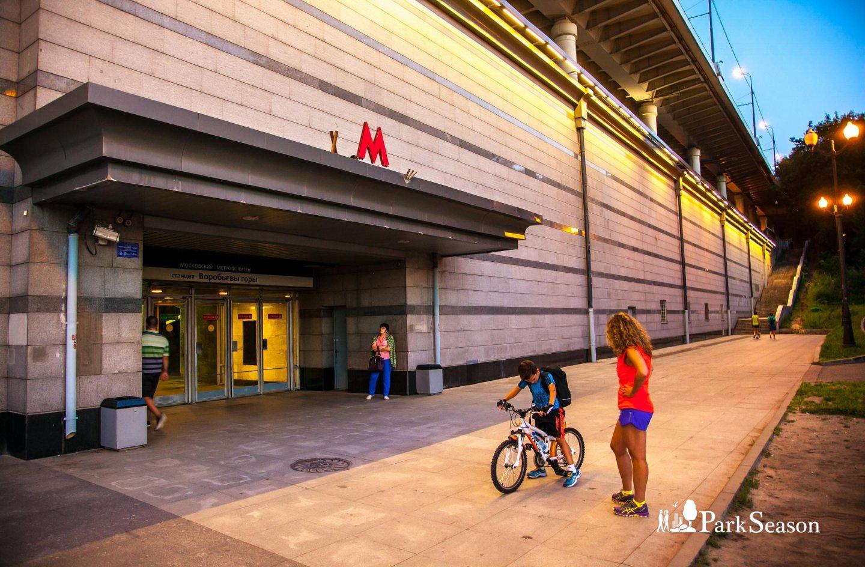 Станция метро «Воробьевы горы», Воробьевы горы, Москва — ParkSeason