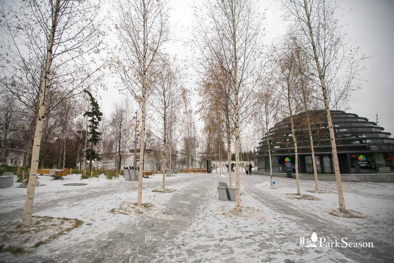 Вход в парк, Парк «Зарядье», Москва — ParkSeason