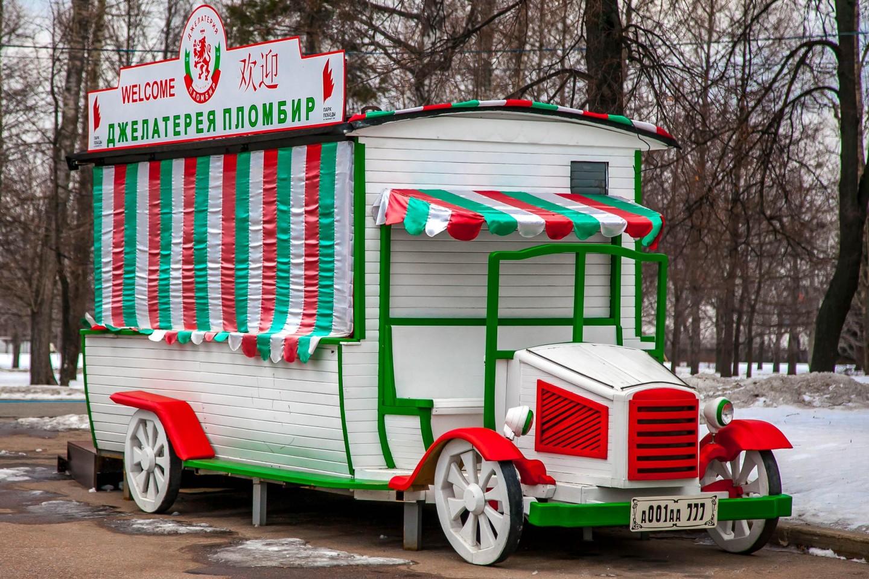 Джелатерия «Пломбир», Парк Победы на Поклонной горе, Москва — ParkSeason