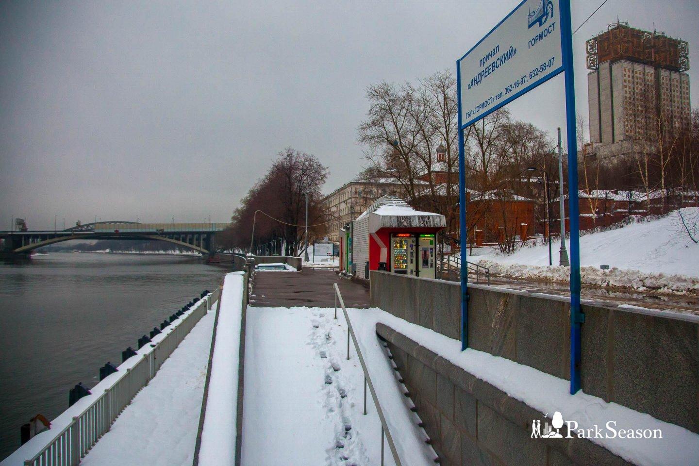 Причал «Андреевский», Воробьевы горы, Москва — ParkSeason