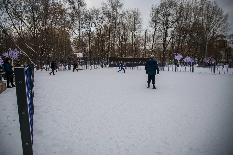Площадка для игры в Футбол и баскетбол, Делегатский парк, Москва — ParkSeason