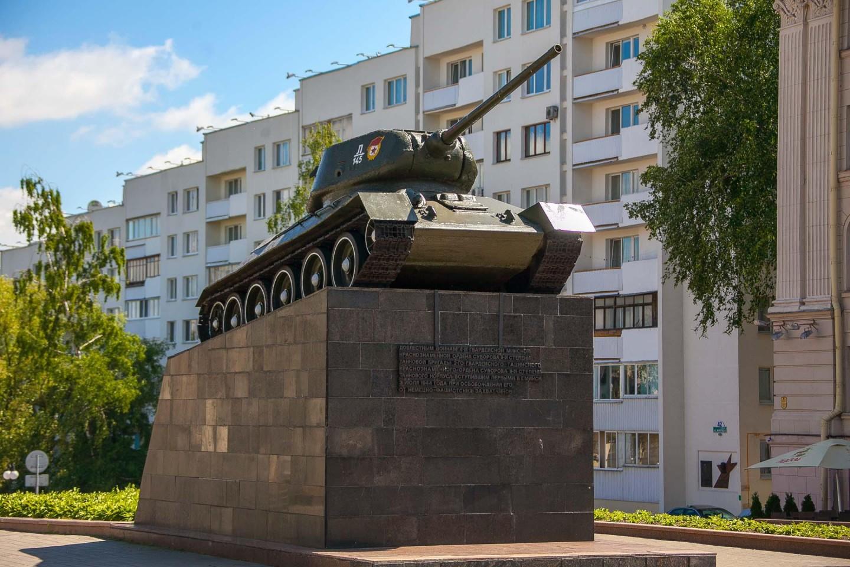 Танк «освобождения Минска от немецко-фашистских захватчиков» — ParkSeason