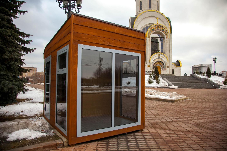 Пост охраны, Парк Победы на Поклонной горе, Москва — ParkSeason