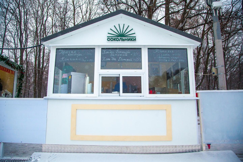 Киоск на катке «Лед», Парк «Сокольники», Москва — ParkSeason