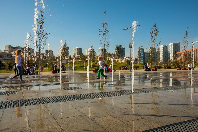 Танцующие фонтаны, Ходынское поле, Москва — ParkSeason