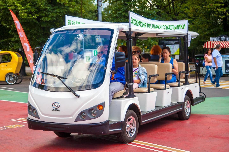 Экскурсионные электромобили, Парк «Сокольники», Москва — ParkSeason