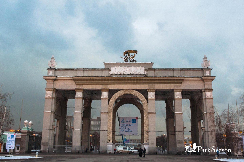 Арка главного входа, ВДНХ, Москва — ParkSeason
