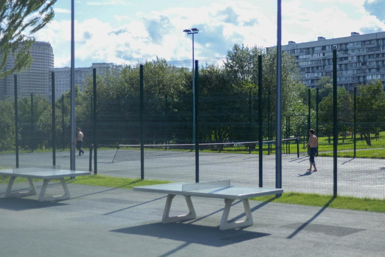 Теннисный корт, Парк «Садовники», Москва — ParkSeason