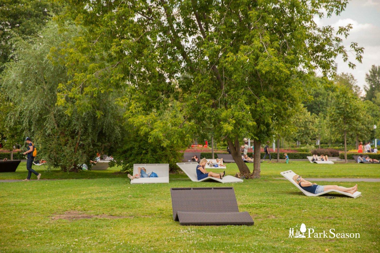 Зона отдыха с лежаками, Парк Горького, Москва — ParkSeason