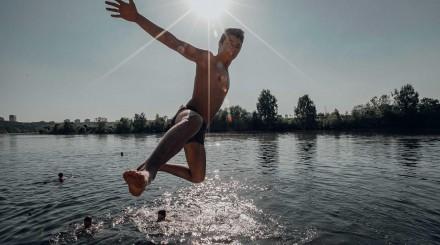 Парк «Фили»: причал, бассейн, июнь