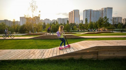 Новое: благоустроенный парк в Южном Бутове